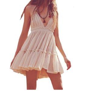 White Cotton Boho Summer Dress